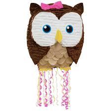 party city halloween pinatas owl pink pull string pinata birthdayexpress com