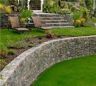 Retaining Wall Ideas For Sloped Backyard Led Retaining Wall Light Profile Design Landscaping And Walls