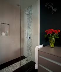 vertical tiles bathroom contemporary with shower partition nature