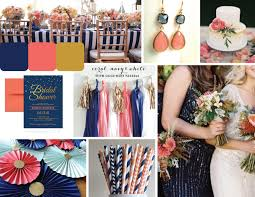 nautical weddings navy coral nautical wedding themeboard desiree hartsock bridal