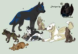 wolf family point adoptions by nathalienova on deviantart