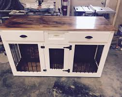 wooden dog crate etsy