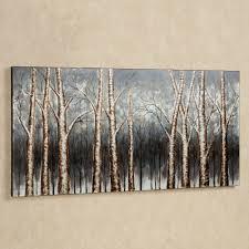 wall art decor cream wallpaper aspen trees wall art sample