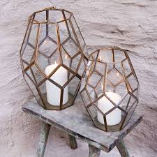Antique Brass Bathroom Accessories by Geometric Brass Lantern Each Of Our Geometric Lanterns Have Been