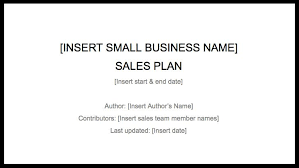 sales plan template u2013 how to create a sales plan to drive business