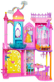 amazon com barbie dpy39 rainbow cove princess castle playset
