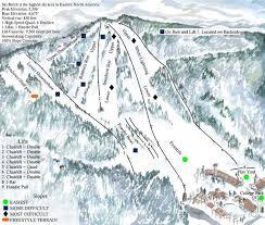 beech mountain ski resort ski trail map banner elk
