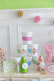 ice cream party ideas pink peppermint design