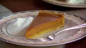 easy pumpkin pie with press in shortbread crust