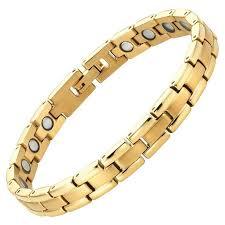 magnetic gold bracelet images Womens gold tone titanium 3000 gauss magnetic therapy bracelet jpeg
