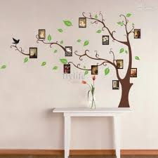 large art photo frames tree wall decor stickers green leaves on
