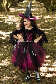 pink witch costume girls 2015 new baby frock the halloween party dress girls little witch