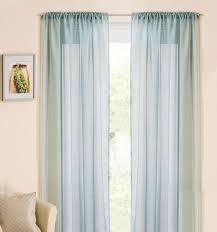 casablanca sparkle slot top sheer voile rod pocket window door
