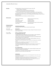 amanda martin vance with cover letter