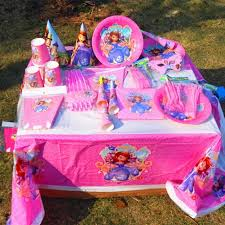 sofia the party supplies new sofia princess party supplies for children birthday party 135pcs