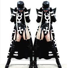 Clock Halloween Costume Aliexpress Buy 2016 Female Black Long Clock Jakcet Bodysuit