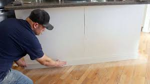 how to add trim to bottom of kitchen cabinets how to install island trim