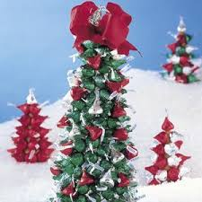 christmas crafts ornaments made with beads hershey kisses tree