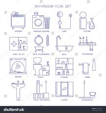 bathroom icon set collection high quality stock vector 501206881