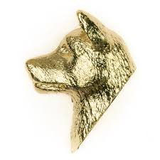 art glass dog ring holder images Akita made in u k artistic style dog clutch lapel pin collection jpg