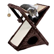 trixie miguel cat scratching tower in beige u0026 brown petco