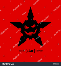 Halloween Flying Bats Vector Halloween Star Flying Bats Smile Stock Vector 86696848