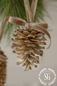 bleached pinecones pinecone decoration and holidays