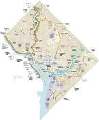 Map Dc The Guide D C Bike And Foot Trails Washingtonpost Com