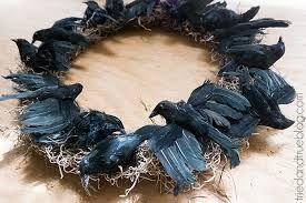 halloween wreath black crow halloween wreath tried true