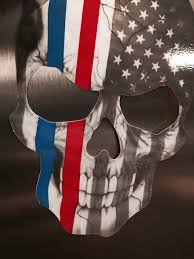 Free American Flag Stickers Red And Blue Skull Subdued Thin Blue And Red Line American Flag