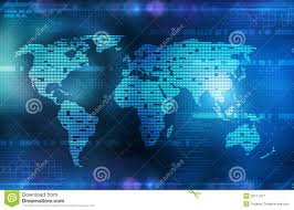 Artistic World Map by Background In Technology And The World Map Royalty Free Stock