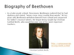 biography of beethoven beethoven and his 7th symphony ppt download
