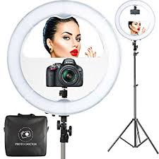 professional makeup light 18 led ring light with mirror 6ft stand