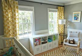 stenciled curtains