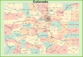 Map Of Colorado Ski Resorts by Map Of Colorado With Cities And Towns