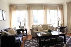 Neutral Curtains Decor Curtains For 3 Windows Together Four Panels Hanging