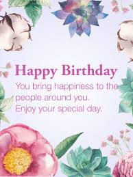 you are a beautiful person flower happy birthday wishes card