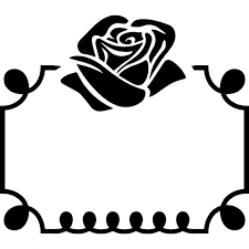 flower ornament on top of a frame icons free