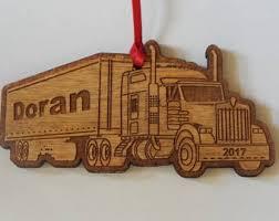 Semi Ornaments Semi Truck Decor Etsy