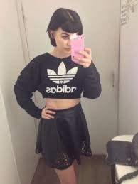adidas crop top sweater adidas crop top sweater tubular running adidas off40 free shipping