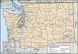 State Map Of Oregon by Maps Of Washington State And Its Counties Map Of Us