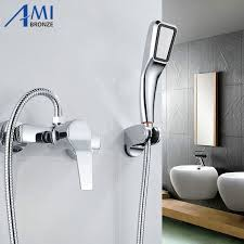 bathtub faucet shower attachment amibronze wall mounted bathroom faucet bath tub mixer tap with hand