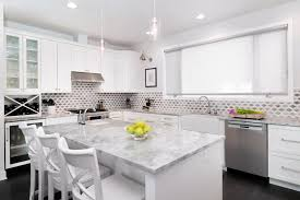 backsplash with white kitchen cabinets transitional white kitchen has gray backsplash linc