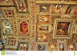 Map Room Frescoed Ceiling Of The Map Room In The Sistine Chapel In Vatican