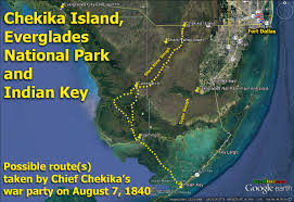 Everglades Florida Map by Chief Chekika U0027s Not So Secret Island Hideaway In The Everglades