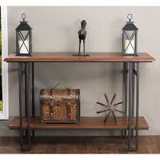 Wooden Console Table Baxton Studio Newcastle Wood And Metal Console Table