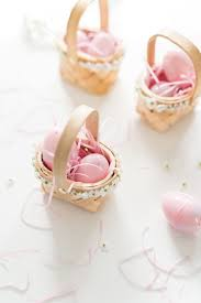 easter surprise cookies mini flower baskets pink wings