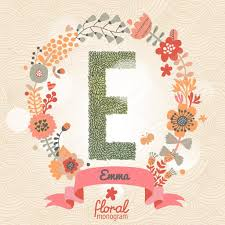 monogram websites stylish floral letter e stock vector smilewithjul 75030833