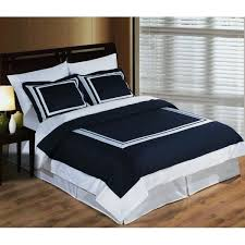 modern hotel navy blue white egyptian cotton framed duvet cover set contemporary king duvet cover sets