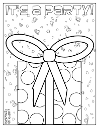 birthday party coloring pages free colorings net
